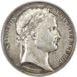 FRANCE: Napoleon I, Emperor, 1804-1815, AR medal (15.84g), 1806. AU