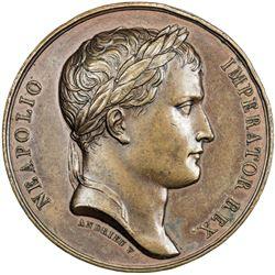 FRANCE: Napoleon I, Emperor, 1804-1815, AE medal (42.25g), 1806. AU