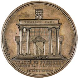 FRANCE: Napoleon I, Emperor, 1804-1815, AE medal (43.67g), 1809. UNC