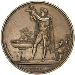 FRANCE: Napoleon I, Emperor, 1804-1815, AE medal, 1811. AU