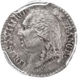 FRANCE: Louis XVIII, 1814-1824, AR medalet, ND (1818). PCGS AU58