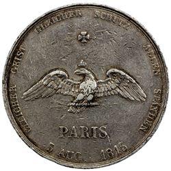 FRANCE: medallic AR 5 francs, 1815. F-VF