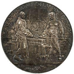 FRANCE: Third Republic, medallic AR 5 francs, 1900. EF