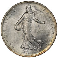 FRANCE: AR 2 francs, 1914-C. PCGS MS64