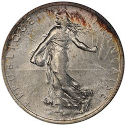 FRANCE: AR 2 francs, 1914-C. PCGS MS63
