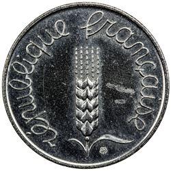 FRANCE: steel 1 centime, 1961. BU