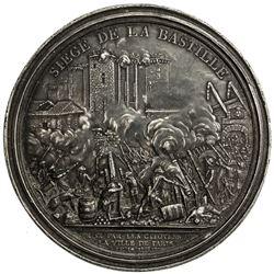 FRANCE: white metal medal (85.8g). EF