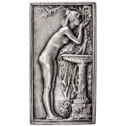 FRANCE: AR plaque (54.92g), ND (ca. 1898). AU