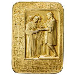 FRANCE: AR plaque (53.39g), 1911. AU