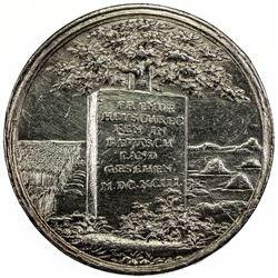BRESLAU: AR medal (18.37g), 1693 (M.DC.XCIII). EF