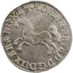 BRUNSWICK-CALENBERG-HANNOVER: Johann Friedrich, 1665-1679, AR 24 mariengroschen, 1674. PCGS MS61