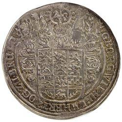 BRUNSWICK-LUNEBURG-CALENBERG: Georg Wilhelm, 1648-1665, AR thaler, 1654. NGC AU55