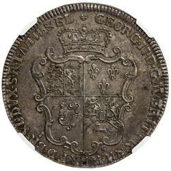 BRUNSWICK-LUNEBURG-CALENBERG-HANOVER: Georg II, 1727-1760, AR thaler, Zellerfeld mint, 1756. NGC AU5