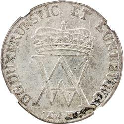 BRUNSWICK-WOLFENBUTTEL: August Wilhelm, 1714-1731, AR 2/3 thaler, Zellerfeld, 1728 EPH. NGC VF35