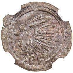 CAMENZ: City coinage, AE 3 pfennig, 1622. NGC MS64
