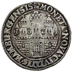 HAMBURG: AR reichstaler (28.68g), 1621. EF