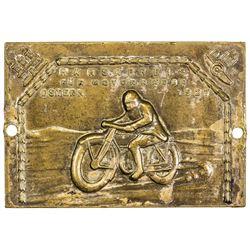 HAMBURG: AE plaque (71.58g), 1927. VF-EF