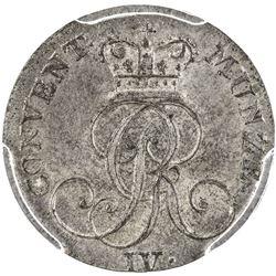 HANNOVER: AR 4 pfennig, 1826-B. PCGS MS65
