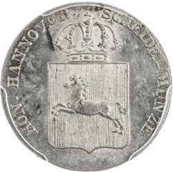 HANNOVER: AR 1/24 thaler, 1835-B. PCGS MS64