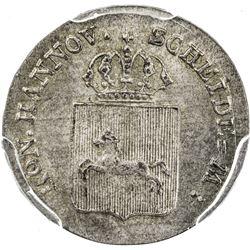 HANNOVER: AR 4 pfennig, 1837-B. PCGS MS65