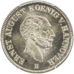 HANNOVER: AR 1/12 thaler, 1847-B. PCGS MS66