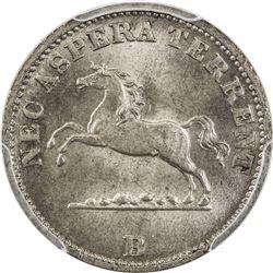 HANNOVER: AR 6 pfennig, 1850-B. PCGS MS66