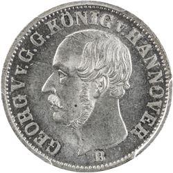 HANNOVER: AR 1/12 thaler, 1853. PCGS MS66