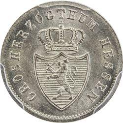 HESSE-DARMSTADT: AR kreuzer, 1836. PCGS MS65