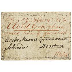 KOLBERG: 8 groschen, 1807. F