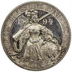 MAINZ: AR shooting medal (38.72g), 1894. AU