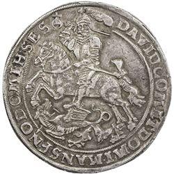 MANSFELD: David, 1592-1628, AR spruchthaler (29.33g), 1623. VF-EF
