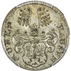 MUHLHAUSEN: AR 6 pfennig, 1767. PCGS MS65
