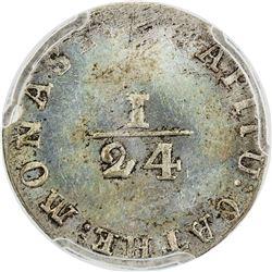 MUNSTER: AR 1/24 thaler, 1801. PCGS MS63