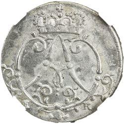 MUNSTER (BISHOPRIC): Clemens August, 1719-1761, AR 1/24 thaler, 1754 IK. NGC MS63