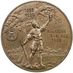NUREMBERG: AE shooting medal (20.22g), 1905. UNC