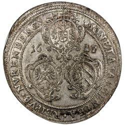 NUREMBERG (IMPERIAL CITY): Ferdinand II, 1619-1637, AR thaler, 1627. NGC MS62