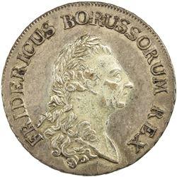 PRUSSIA: Friedrich II, 1740-1786, AR thaler, 1786-A. EF