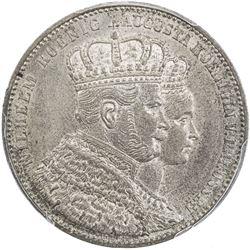 PRUSSIA: Wilhelm I, 1861-1888, AR thaler, 1861-A. PCGS MS65
