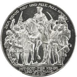 PRUSSIA: Wilhelm II, 1888-1918, AR 3 mark, 1913-A. PCGS PF63