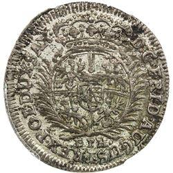 SAXONY: Frederick Augustus I, 1694-1733, AR 1/12 thaler, 1704. PCGS MS62