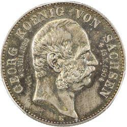 SAXONY: Friedrich August III, 1904-1918, AR 2 mark, 1904-E. PCGS MS64