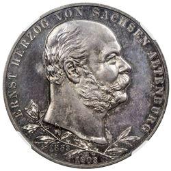 SAXE-ALTENBURG: Ernst, 1853-1908, AR 5 mark, 1903-A. NGC PF64