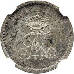 SCHLESWIG-HOLSTEIN: Friedrich VI, of Denmark, 1808-1839, AR 8 reichsbank schilling, 1818 CB. NGC MS6