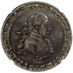 SCHWARZBURG-RUDOLSTADT: Friedrich Karl, 1790-1793, AR thaler, Saalfeld mint, 1791. NGC AU58