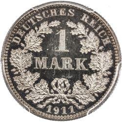 GERMANY: Wilhelm II, 1888-1918, AR mark, 1911-E. PCGS PF64