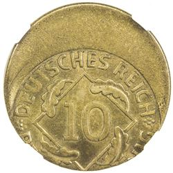GERMANY: Weimar Republic, 10 pfennig. NGC MS65