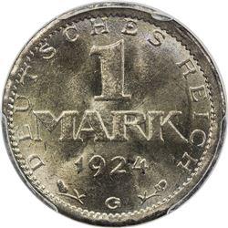 GERMANY: Weimar Republic, AR mark, 1924-G. PCGS MS65