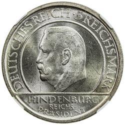 GERMANY: Weimar Republic, AR 5 reichsmark, 1929-A. NGC MS64