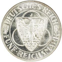 GERMANY: AR 5 mark, 1930-J. NGC MS65