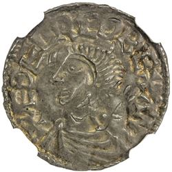 ANGLO-SAXONS: Aethelred II, 978-1016, AR penny, London. NGC EF